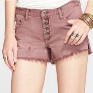 Free people button up shorts